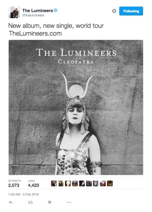 Lumineers_Tweet_020516