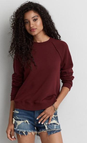 Raglan Crew Sweatshirt - $34.95