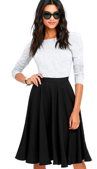 Black Midi Skirt - $45.00