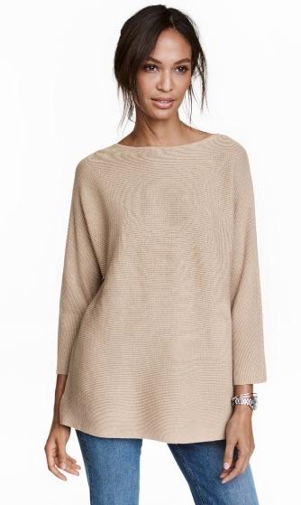 Rib-knit Sweater (Light Beige) - $29.99