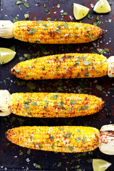 grilled_lime_cilantro_and_paprika_corn_blissfulbasil