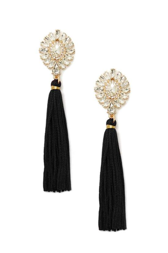 forever 21_rhinestone duster earrings