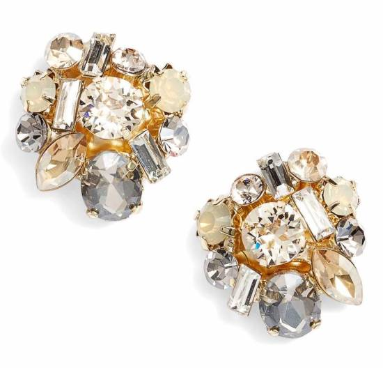 stella ruby_crystal cluster earrings